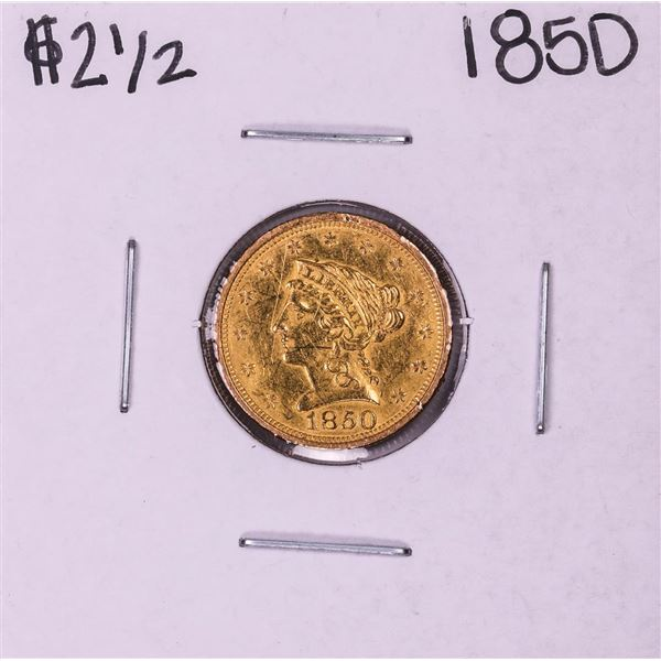 1850 $2 1/2 Liberty Head Quarter Eagle Gold Coin