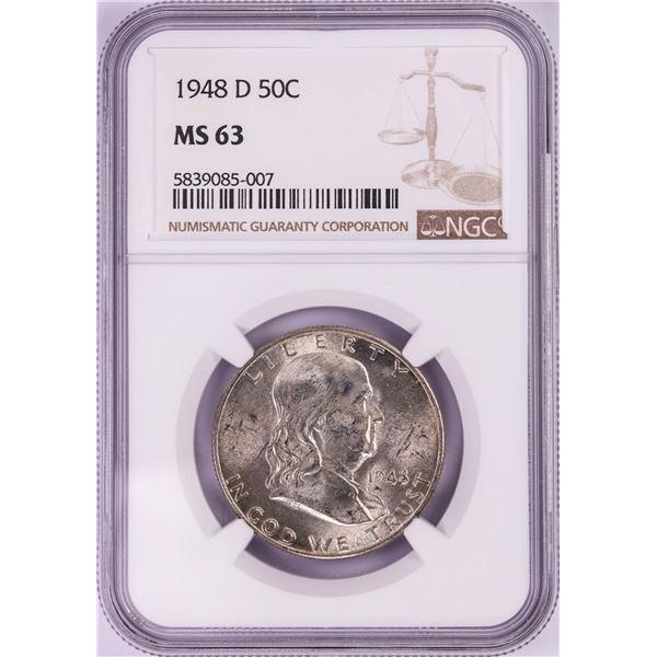 1948-D Franklin Half Dollar Coin NGC MS63