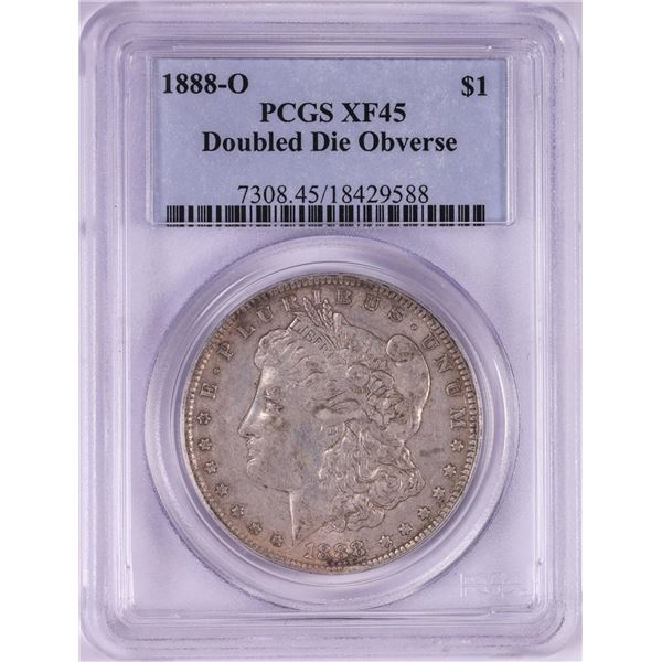 1888-O Doubled Die Obverse $1 Morgan Silver Dollar Coin PCGS XF45