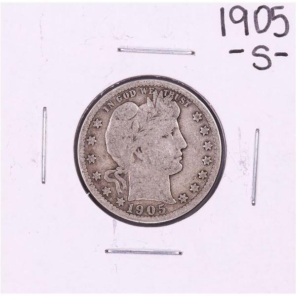 1905-S Barber Quarter Coin