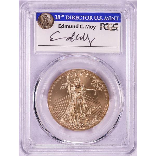 2017-W $50 Burnished American Gold Eagle Coin PCGS SP70 FDOI Denver Moy Signature