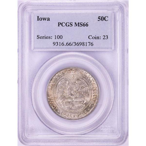 1946 Iowa Statehood Centennial Commemorative Half Dollar Coin PCGS MS66