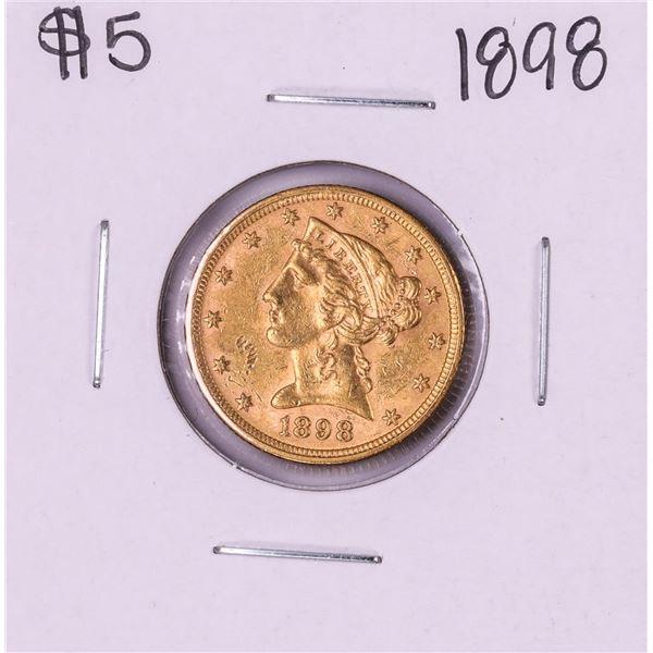 1898 $5 Liberty Head Half Eagle Gold Coin