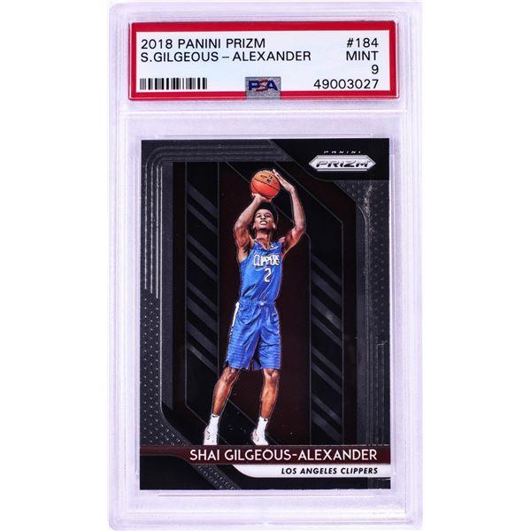 2018 Panini Prizm Shai Gilgeous-Alexander NBA Card # 184 PSA Mint 9