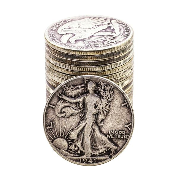 Roll of (20) Mixed Date Walking Liberty Half Dollar Coins