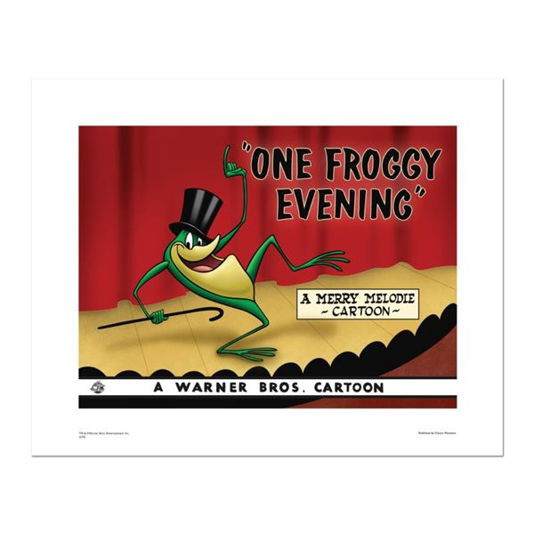 """Looney Tunes """"One Froggy Evening"""" Limited Edition Giclee On Paper"""