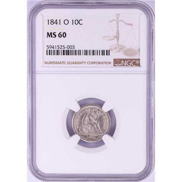 1841-O Seated Liberty Half Dime Coin NGC MS60