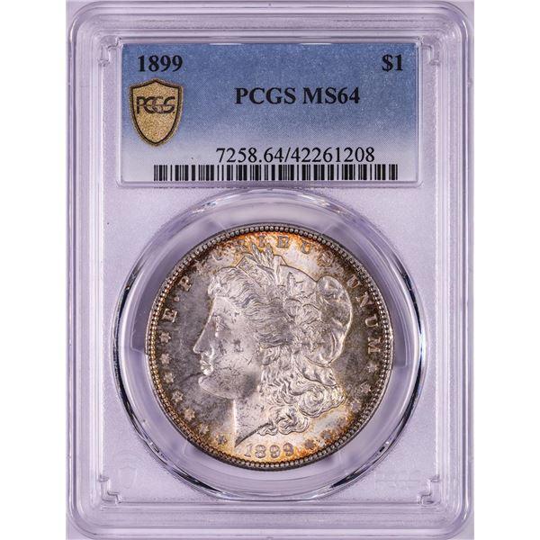 1899 $1 Morgan Silver Dollar Coin PCGS MS64 Nice Toning