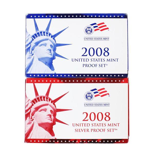 Lot of (2) 2008 United States Mint Proof Sets
