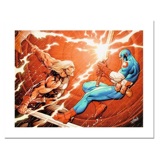 """Stan Lee - Marvel Comics """"Ultimate New Ultimates #4"""" Limited Edition Giclee On Canvas"""