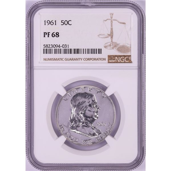 1961 Proof Franklin Half Dollar Coin NGC PF68