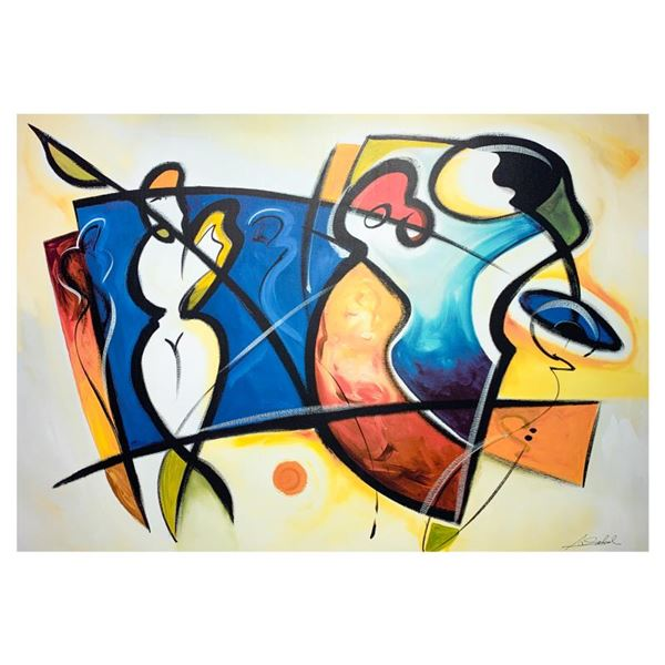 """Alfredalexander Gockel """"Beauty In The Mirror"""" Limited Edition Giclee On Canvas"""