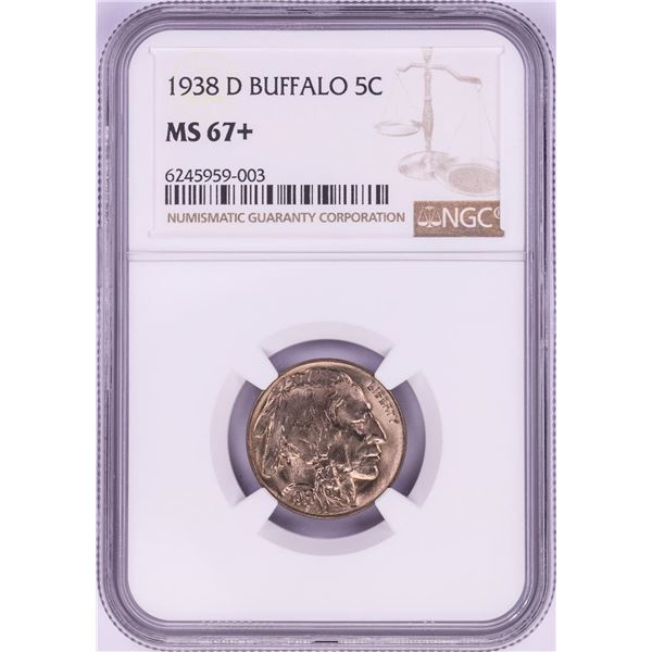 1938-D Buffalo Nickel Coin NGC MS67+