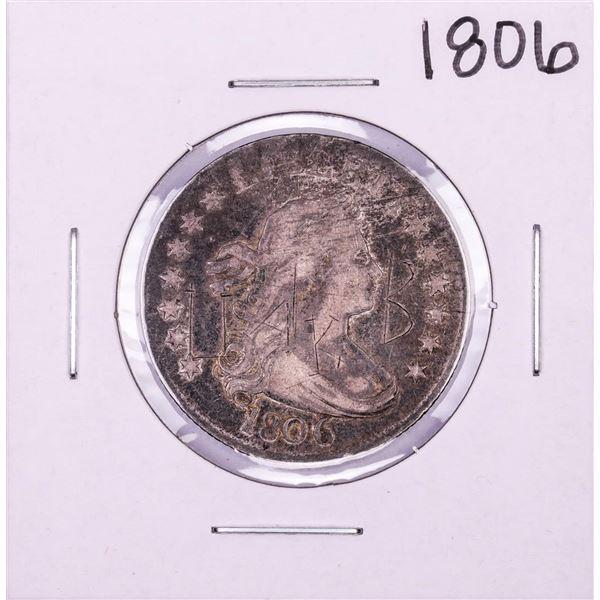 1806 Draped Bust Quarter Coin - Graffiti