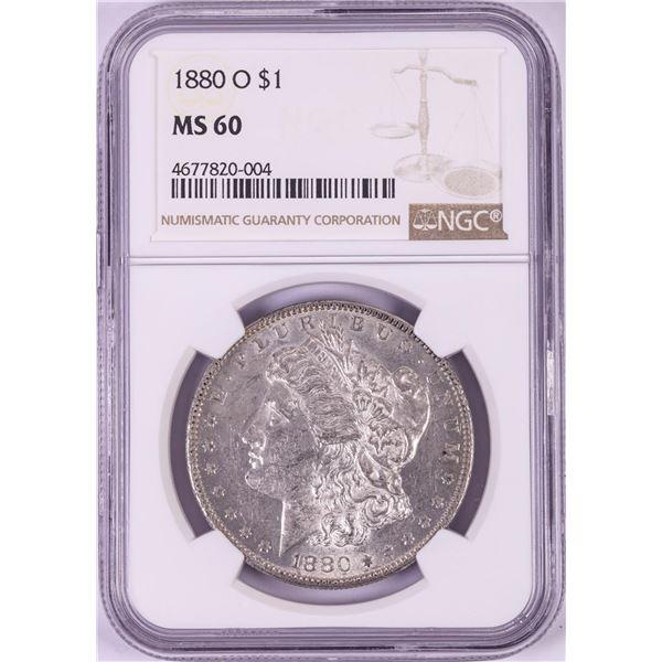 1880-O $1 Morgan Silver Dollar Coin NGC MS60