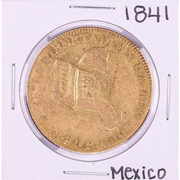 1841GoPJ Mexico 8 Escudos Gold Coin