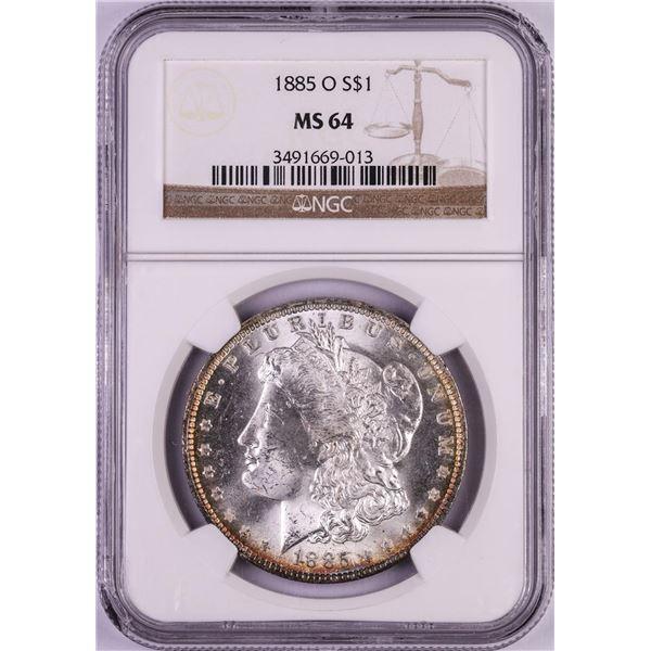 1885-O $1 Morgan Silver Dollar Coin NGC MS64
