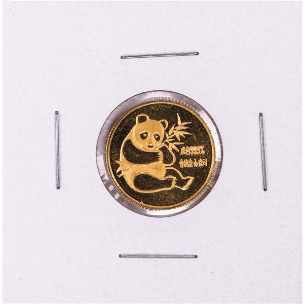 1982 China 1/10 oz Gold Panda Coin