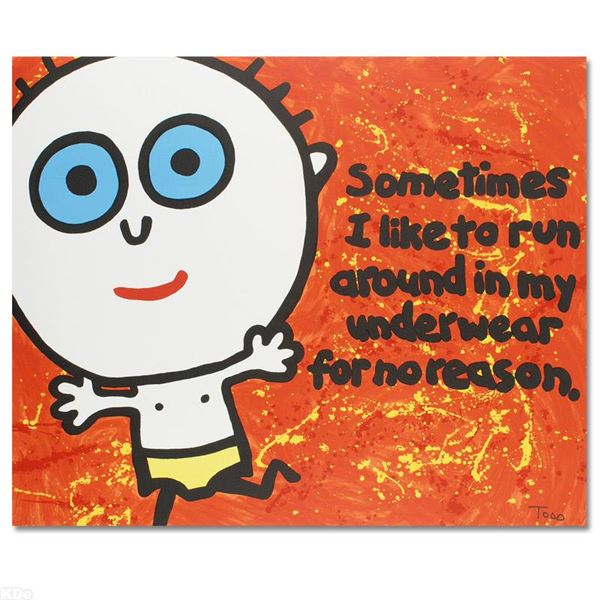 """Todd Goldman """"Sometimes I Like To Run"""" Limited Edition Lithograph On Paper"""