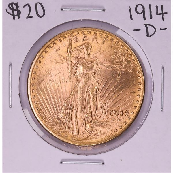 1914-D $20 St. Gaudens Double Eagle Gold Coin