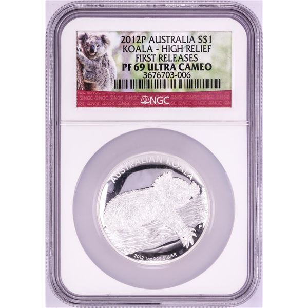2012-P Australian $1 Proof Koala Silver Coin NGC PF69 Ultra Cameo First Releases