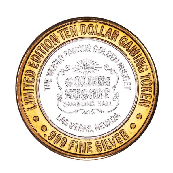 .999 Fine Silver Golden Nugget Las Vegas, Nevada $10 Limited Edition Gaming Token