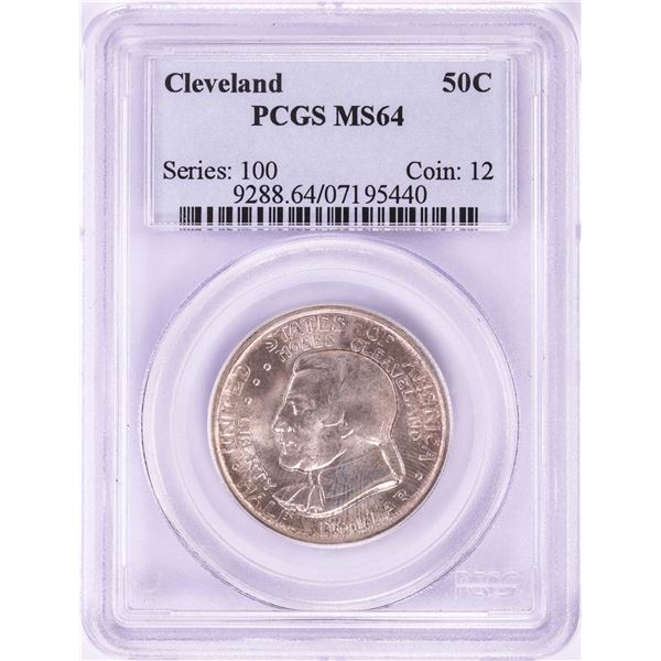 1936 Cleveland Exposition Commemorative Half Dollar Coin PCGS MS64