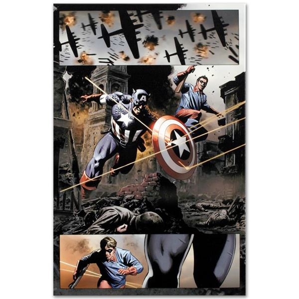 """Marvel Comics """"Captain America #37"""" Limited Edition Giclee On Canvas"""