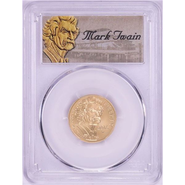 2016-W $5 Mark Twain Commemorative Gold Coin PCGS MS70 First Strike