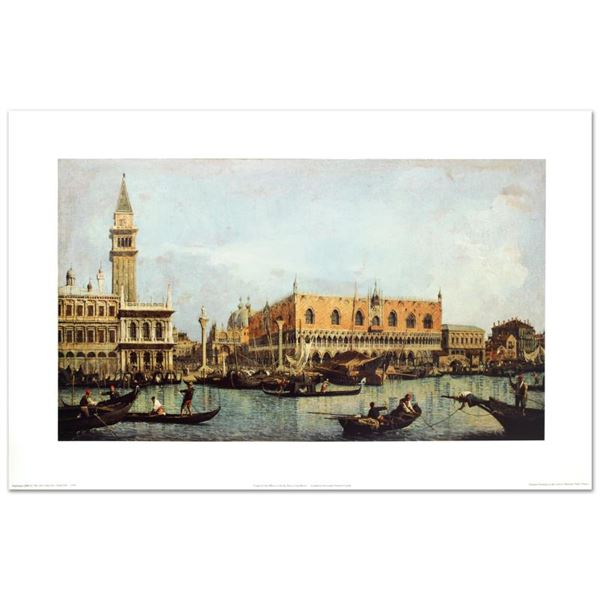 """""""Canal Of San Marco With The Piazza San Marco"""" Print Poster On Paper"""