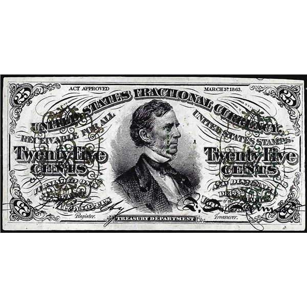 March 3, 1863 Third Issue Twenty-Five Cents Fractional Currency Note