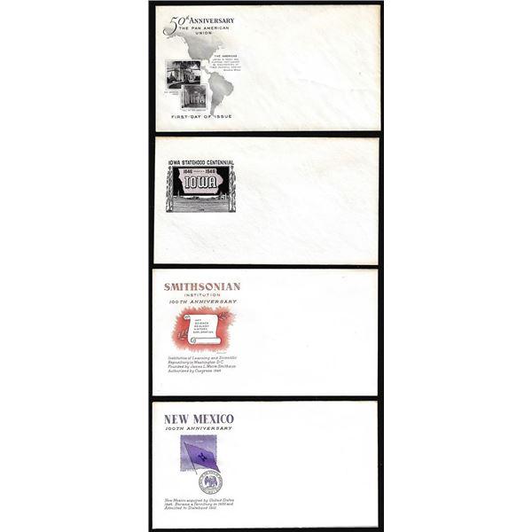 Lot of (4) WWII Era Patriotic Unused Envelopes
