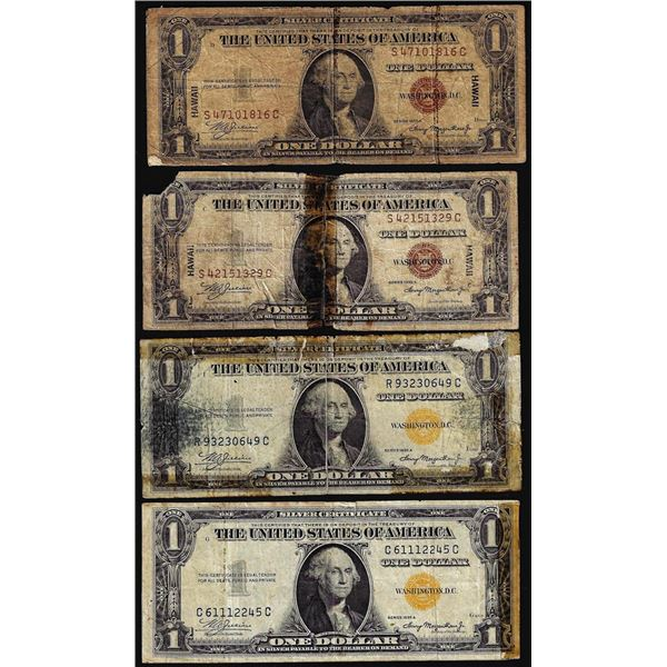 Lot of 1935A $1 Hawaii and North Africa WWII Emergency Issue Silver Certificate Notes