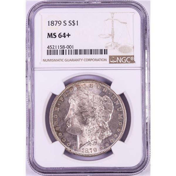 1879-S $1 Morgan Silver Dollar Coin NGC MS64+