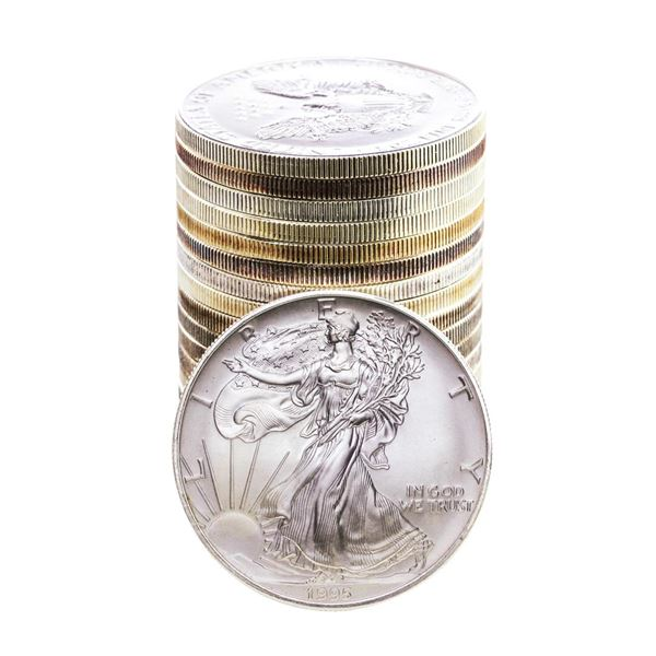 Roll of (20) Brilliant Uncirculated 1995 $1 American Silver Eagle Coins