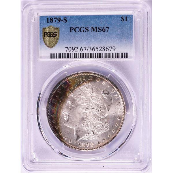 1879-S $1 Morgan Silver Dollar Coin PCGS MS67 Amazing Toning