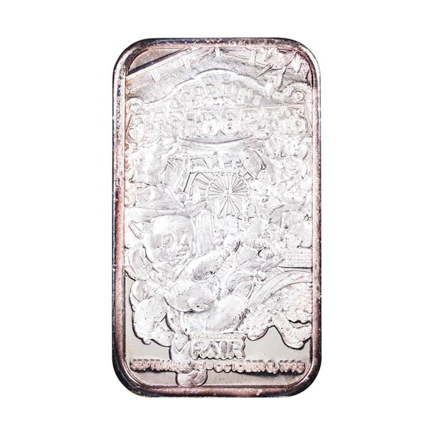 1993 L.A. County Fair Montclair, CA Limited Edition 1oz .999 Fine Silver Art Bar