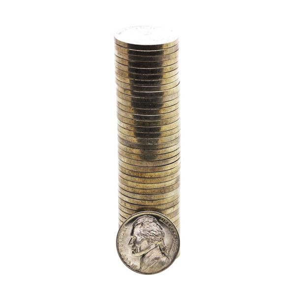 Roll of (40) Brilliant Uncirculated 1944-D Jefferson Nickel Coins
