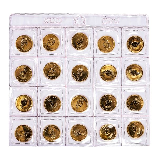 Lot of (20) 1999 Canada $5 Maple Leaf Gold Coins