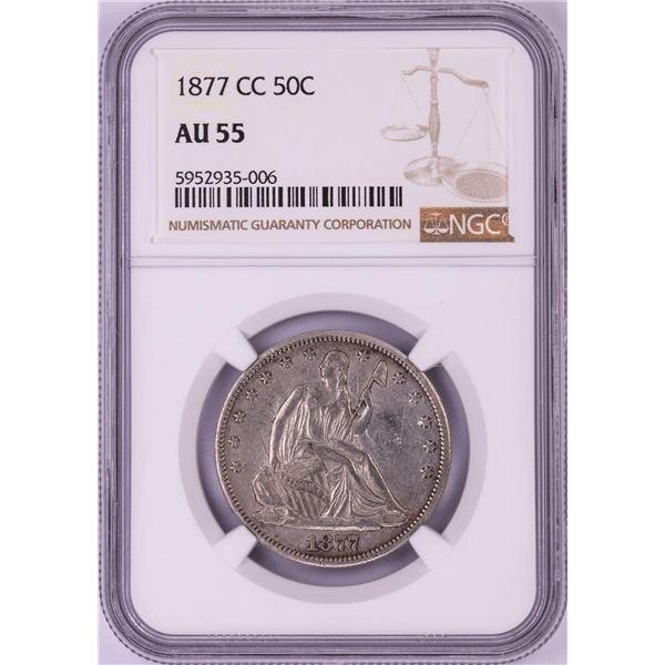 1877-CC Seated Liberty Half Dollar Coin NGC AU55