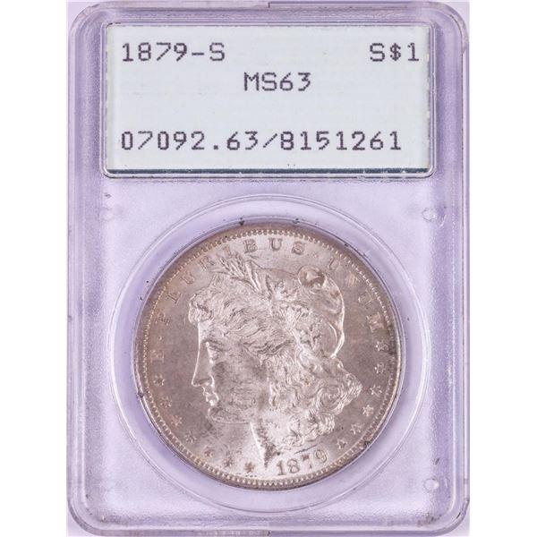 1879-S $1 Morgan Silver Dollar Coin PCGS MS63 Green Rattler Holder