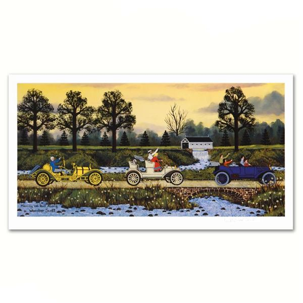 """Jane Wooster Scott """"Merrily We Roll Along"""" Limited Edition Lithograph On Paper"""