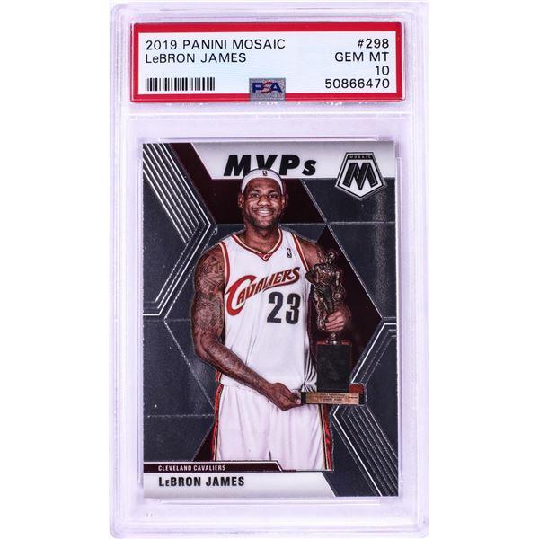 2019 Panini Mosaic MVP LeBron James NBA Card #298 PSA Gem Mint 10