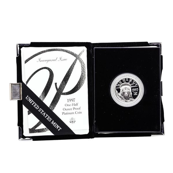 1997-W $50 Proof Platinum American Eagle Coin w/Box & COA