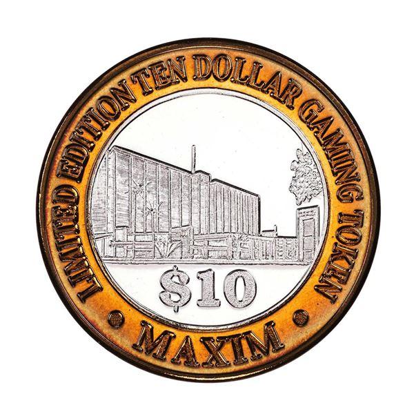 .999 Silver Maxim Hotel & Casino Las Vegas, NV $10 Limited Edition Gaming Token