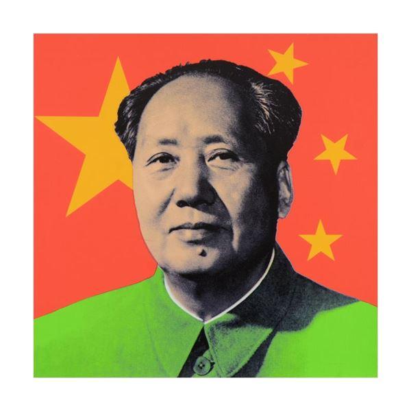 "Steve Kaufman (1960-2010) ""Chairman Mao"" Original Serigraph On Canvas"
