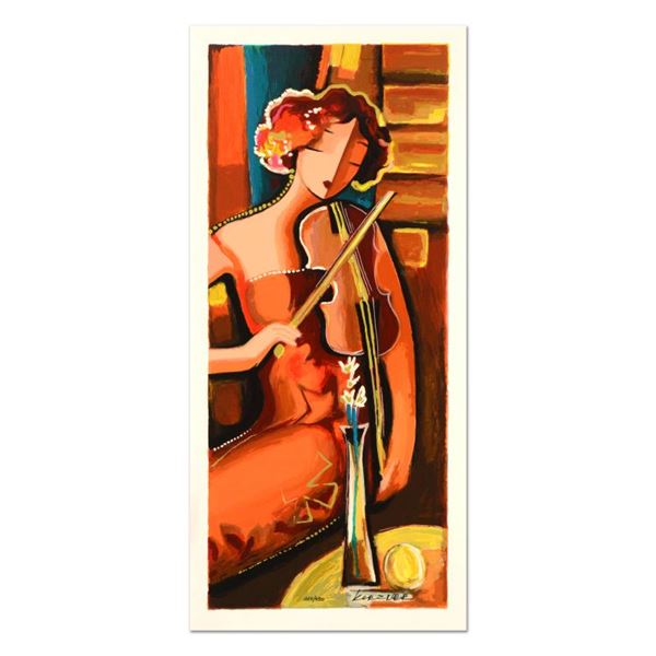 """Michael Kerzner """"The Violinist"""" Limited Edition Mixed Media On Canvas"""