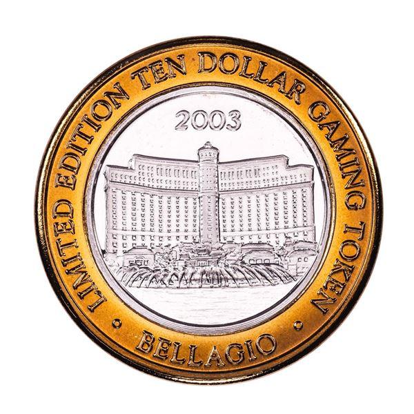 .999 Silver Bellagio Las Vegas, Nevada $10 Casino Limited Edition Gaming Token