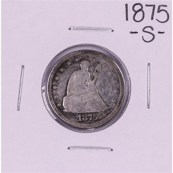 1875-S Seated Liberty Quarter Coin
