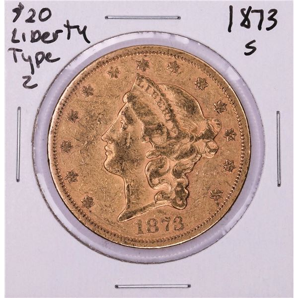 1873-S $20 Liberty Head Double Eagle Gold Coin